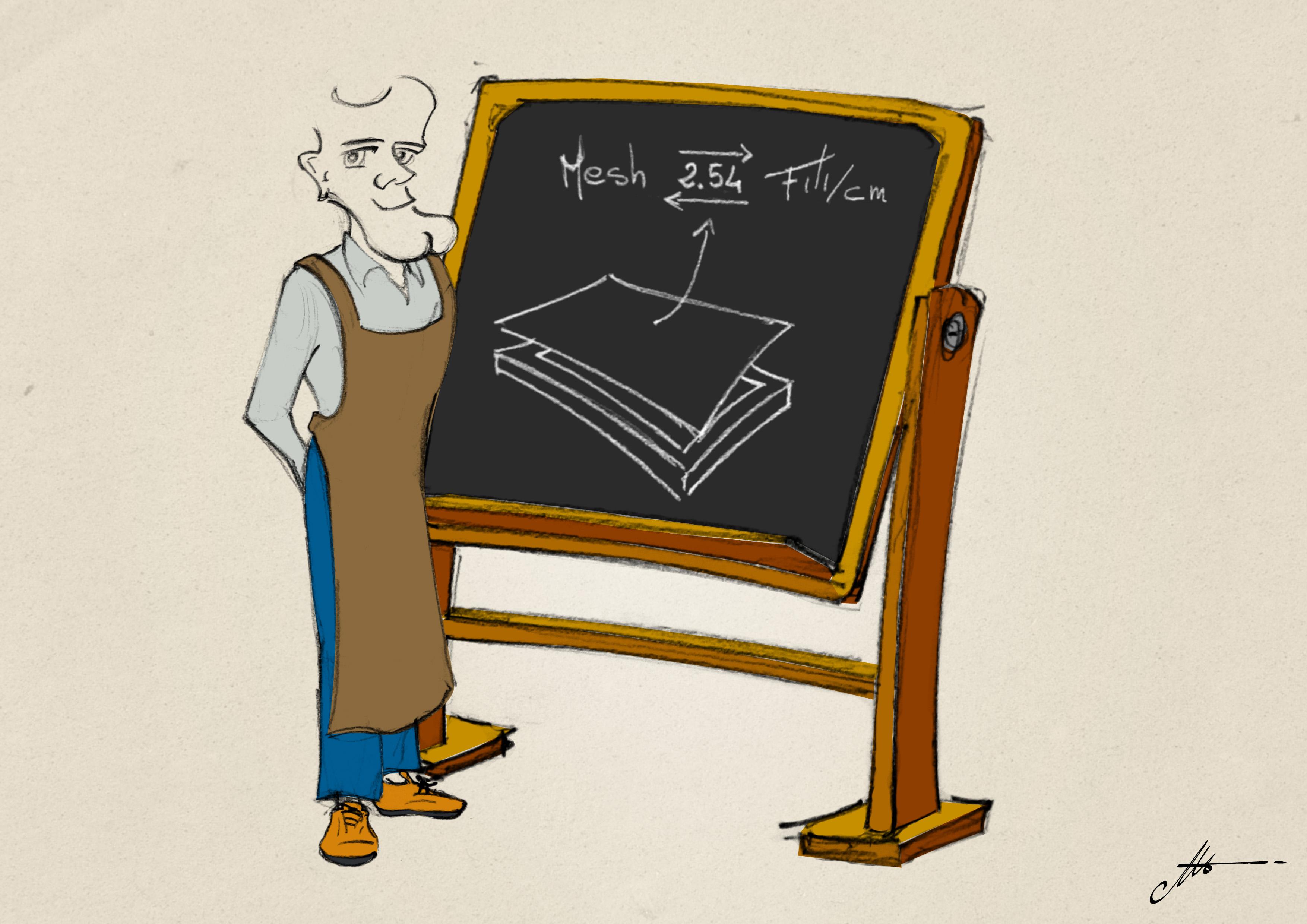 Tabla de conversión de Mesh a Hilos para las mallas de serigrafía