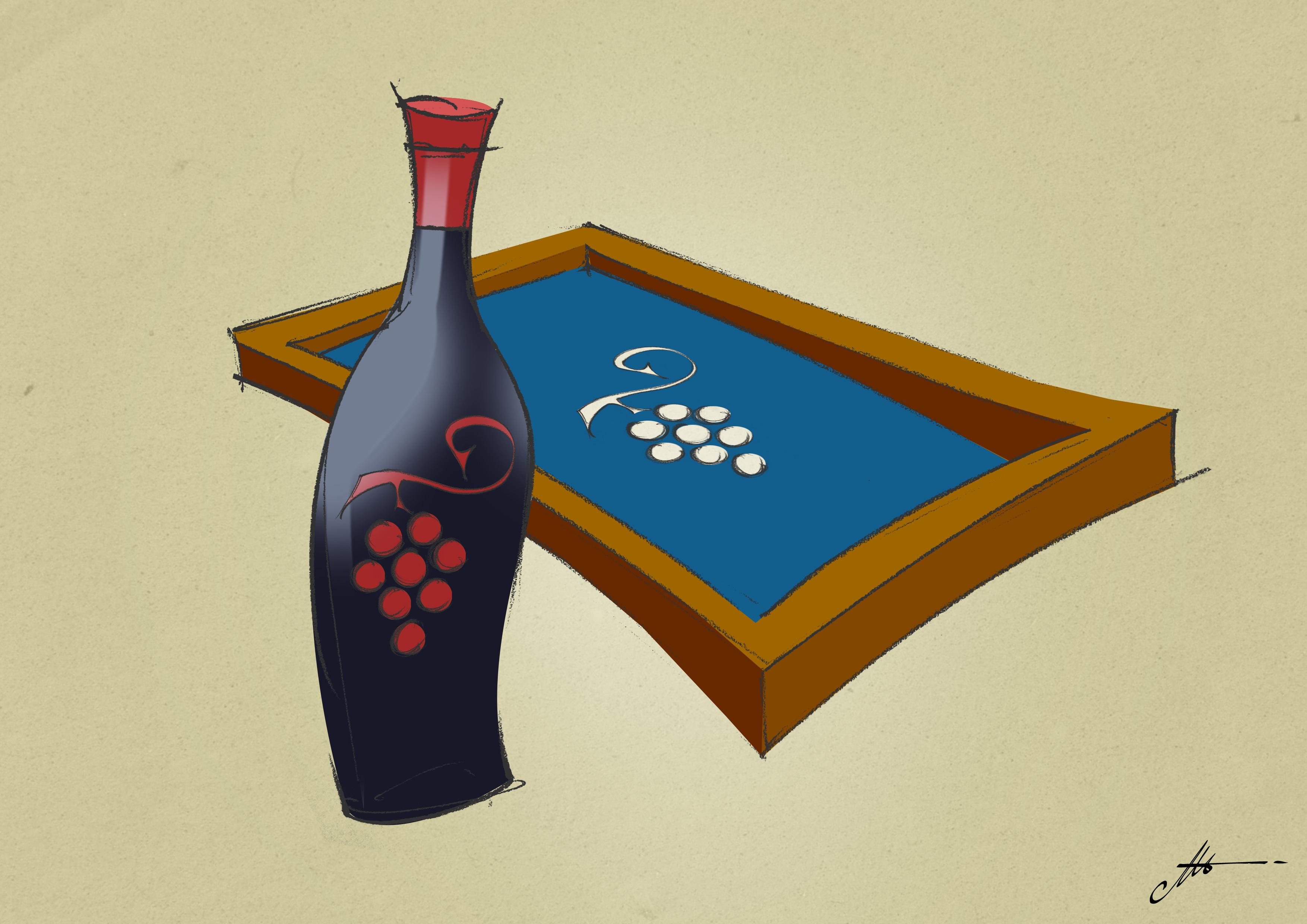 serigrafiar botellas de vino llenas